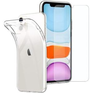 Capa transparente para iPhone Frente e Trás