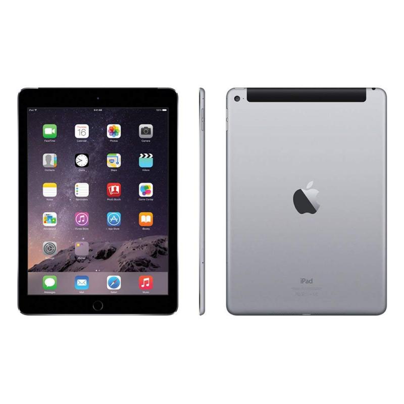 iPad Air 2 64GB Wifi Cellular Recondicionado Space Grey Frente Lado e Trás